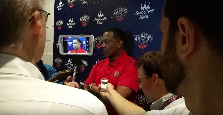 Alvin Gentry (New Orleans Pelicans) Press Interview