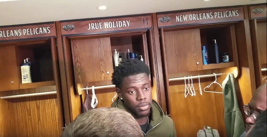 Jrue Holiday (New Orleans Pelicans) Press Interview