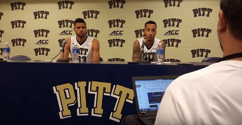 Pitt players Sterling Smith & Alonzo Nelson Ododa