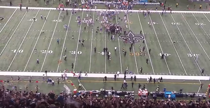 Saints vs Giants game winning FG 52-49