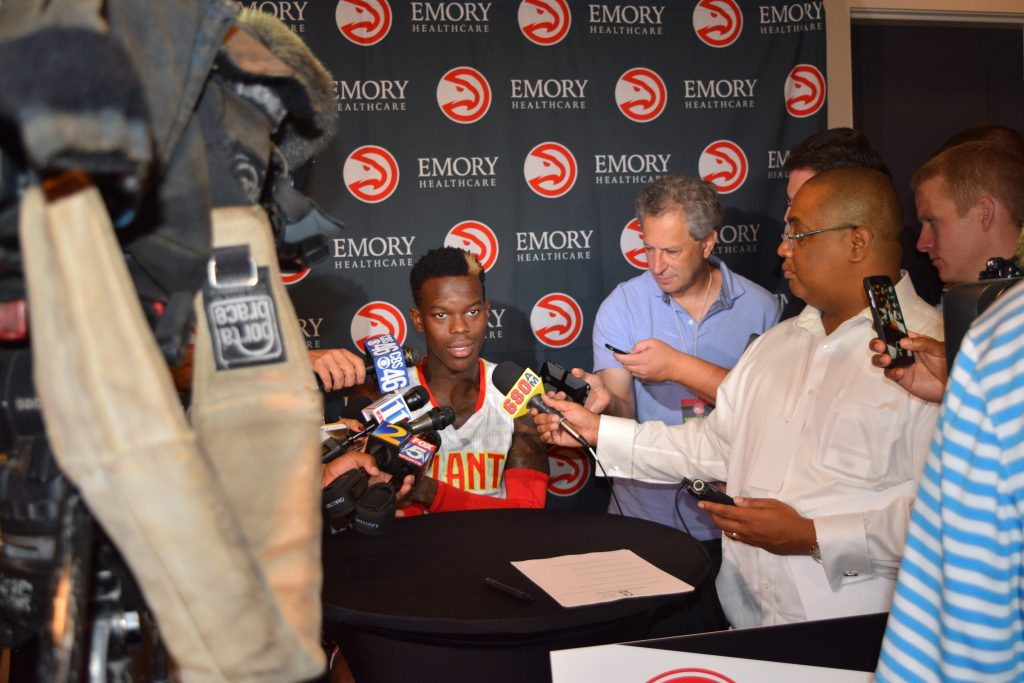 Dennis Schroder Clip From Atlanta Hawks Media Day