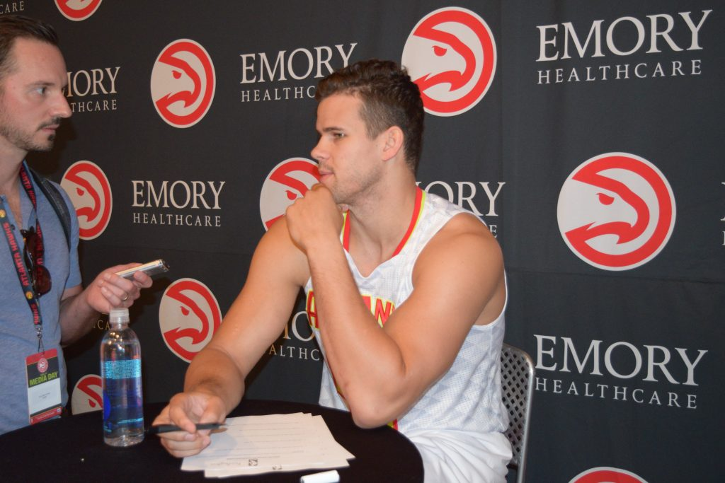 Kris Humphries Clip From Atlanta Hawks Media Day