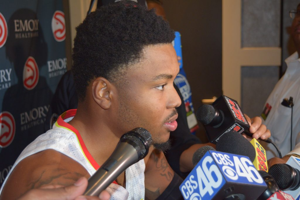 Kent Bazemore Clip From Atlanta Hawks Media Day