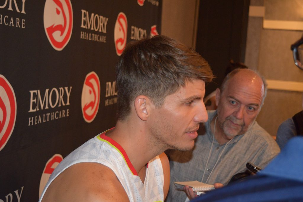 Kyle Korver Clip From Atlanta Hawks Media Day