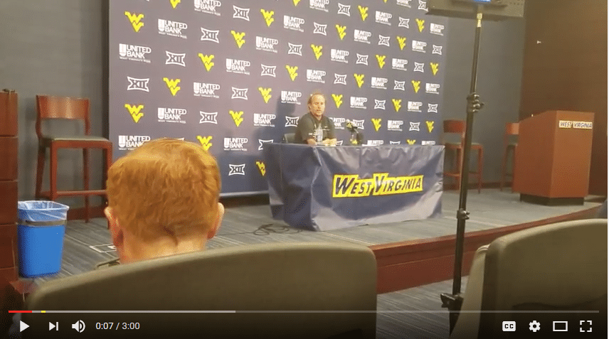 Dana Holgorsen Presser Against Youngstown St. Part 2