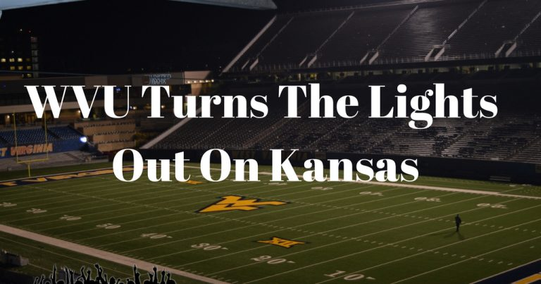 WVU Turns The Lights Out On Kansas